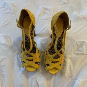 Jessica Simpson yellow heels